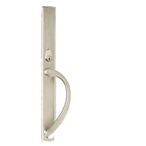 Ashland Sliding Patio Door Three-Point Locking System Square Back Plate